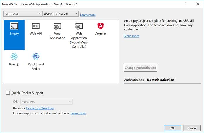 Create a minimal ASP.NET Core 2.0 MVC web application - I am Bacon